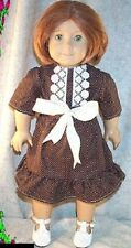 "Doll Clothes Made 2 Fit American Girl 18"" in Kirsten Skirt Blouse Brown White"