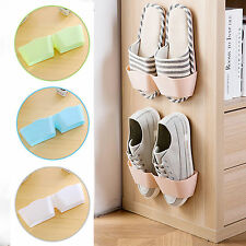Wall-Mounted Sticky Hanging Shoe Holder Hook Shelf Rack Organiser Storage Holder