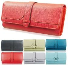 LADIES NEW STRAP PURSE LARGE WALLET DESIGNER GLAM FAUX LEATHER TEXTURE QUALITY