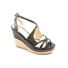 Kelsi Dagger Mariellen Women  Open Toe Patent Leather Black Wedge Sandal
