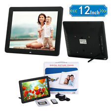 "12""inch LED Digital Photo Frame Picture MP3 MP4 Clock Video Movie+Remote Control"