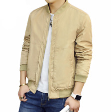 new men's jacket casual slim fit autumn coat stand collar outerwear overcoat
