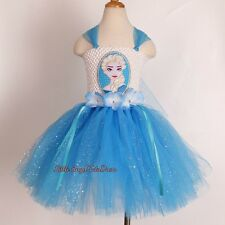 Frozen Elsa Inspired Tutu Dress, Handmade Elsa Tutu, Birthday Party Dress