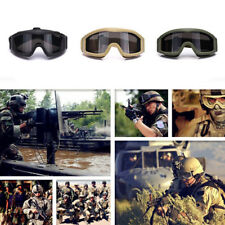 Tactical Airsoft Goggles Anti-fog Dust Eye Safety Protection Glasses With 3 Lens
