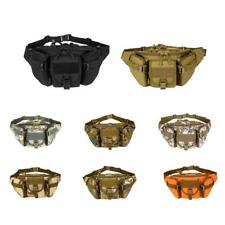 Nylon Large Molle Fanny Waist Pack Belt Pouch Camping Climbing Hiking Sports Bag
