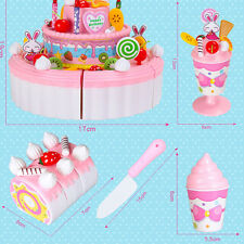 Gift Child Kitchen Toy Girl Birthday Cheerful Double Layer Birthday Cake 1 PC