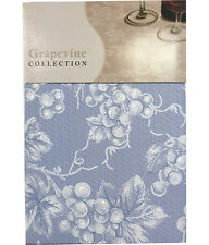 NEW Grape Vine Vinyl Tablecloth - Slate Blue