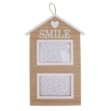 Rustic House Wood Photo Frames Home Decor Family Picture Holder Hanging Craft