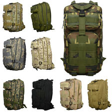 30L Molle Backpack Army Military Tactical Rucksack Assault Camping Hiking Bag