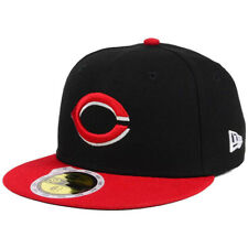 New Era 5950 Youth Cincinnati Reds 2017 ALT Fitted Hat (Black/Red) MLB Kid's Cap