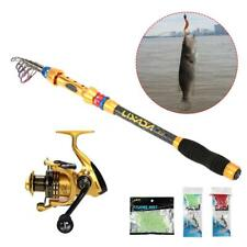 Telescopic Fishing Rod With Reel Combos Fishing Pole Line Sets Bag Kits New Q7M0
