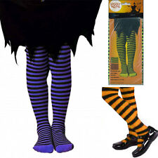Ladies Black Stripes Tights Full Length Fancy Dress Party Display Feet covered
