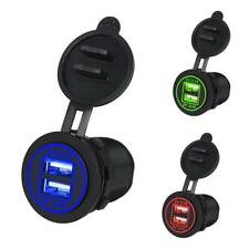 LED 12V/24V Car Marine Dual USB Port Charger Power Adapter Waterproof