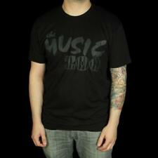 Music Zoo Classic Black on Black Logo T-Shirt