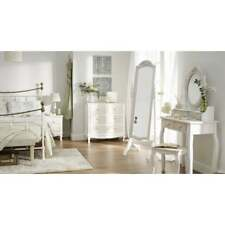 Juliette french vintage white and pine painted bedroom furniture