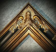 "5.5"" WIDE Gold and Black Ornate Antique Oil Painting Wood Picture Frame 620BP"