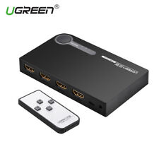 Ugreen 3 Ports HDMI Switch 4K HDMI Selector Switch Box 3D 1080P Remote for PS4
