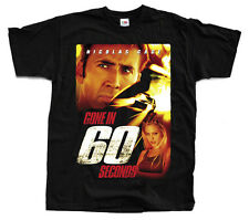 GONE IN SIXTY SECONDS Movie poster, Nicolas Cage T-Shirt (Black) S-5XL
