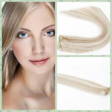"""#12/613 Brown Blonde 7 pcs set Real Clip In Remy Human Hair Extensions 15""""18""""22"""""""