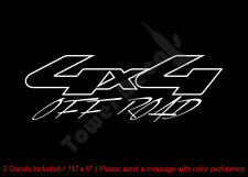 4X4 OFFROAD OUTLINED ROUND VINYL DECALS FITS:CHEVY GMC DODGE FORD NISSAN TOYOTA