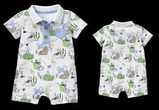 Gymboree Peter Rabbit Collection Baby Boy Romper Watering Can Pots Chambray NWT