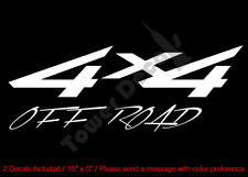 4X4 OFFROAD SOLID SHARP VINYL DECALS FITS: CHEVY GMC DODGE FORD NISSAN TOYOTA
