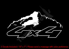 4X4 SNOWCAP MOUNTAIN OUTLINED VINYL DECALS FITS:CHEVY DODGE FORD NISSAN TOYOTA
