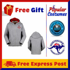 Assassins Creed Connor Kenway Jacket Coat Sweatshirt Outwear Mens Hoodie Costume