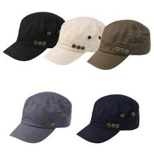Unisex Women Classic Hat Adjustable Army Military Cadet Style Cap Flat Top M