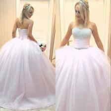 Pink Quinceanera dresses Formal Prom Party Ball Gown Wedding Dress Custom Size