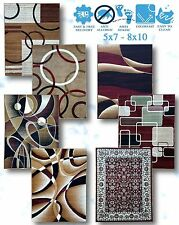 Modern Rug Home Area Rugs Multi Oriental Swirls Lines Abstract Carpet All Size x