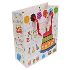 5pcs Colorful Happy Birthday Paper Handle Gift Bags Party Bags Baby Shower Favor