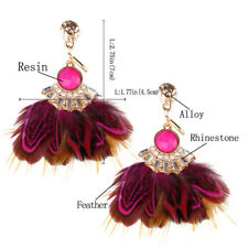 Jewelry 1Pair Exquisite Earrings Exaggeration Tassel Bohemia Feather Ladies