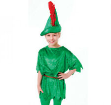 Green Peter Pan Elf Robin Hood Dance Costume Tunic & Hat Set