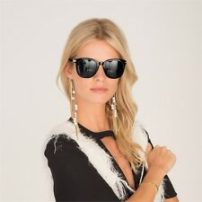 2 Chic Vivian Sunglasses with Gold Chain - In Black or Tortoise