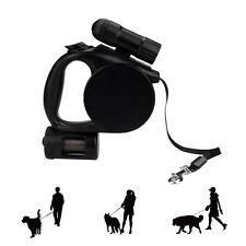 Automat Retractable Dog Leash With Detachable LED Light Flashlight Pet Leash