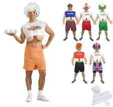 Mens Funny Droopers Costume Hooters Droopy Big Boobs Fancy Dress Stag Party