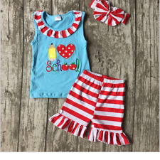 New Boutique Girls Set Clothes Clothing  pencil clothes with match headband