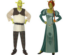 Mens Shrek Costume Or Ladies Fiona Shrek Fancy Dress