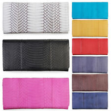 Trifold Genuine Cobra Snake Skin Leather Womens Lady Stylish Wallet Clutch Purse