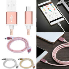 Universal Micro USB to USB 2.0 Braided Data Sync Charger Charging Cable Cord
