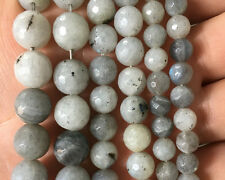 Natural Labradorite White Gemstone Beads Round Faceted Beads 6mm 8mm 10mm 15''
