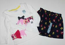 baby Gap NWT Girls Outfit Set Mixed Media Dog Top Floral Skirt