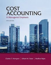 Cost Accounting : A Managerial Emphasis 14th edition with Study Guide
