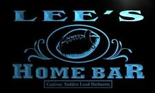 x1024-tm Lee's Home Bar End Zone Custom Personalized Name Neon Sign
