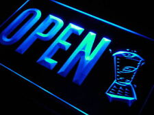 j790-b OPEN Smoothies Juice Drink Cafe Neon Light Sign