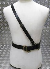 Genuine Vintage Military Issue Leather WW2 Ear Officers Sam Browne Belt VSB04