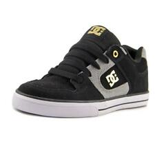 DC Shoes Pure XE Youth  Round Toe Suede Black Skate Shoe