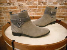 Marc Fisher Grey Suede Charlie Ankle Strap Boots NEW