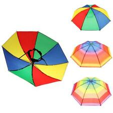 Festival Colorful Umbrella Hat Cap Beach Sun Shade Fishing Camping Outdoor
